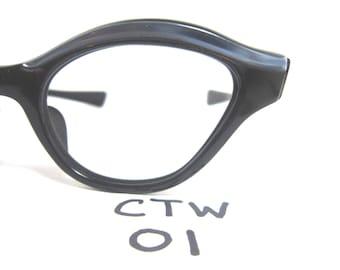 1950s/60s Real Vintage Cat Eye Eyeglasses Frame in Blue (CTW-01)