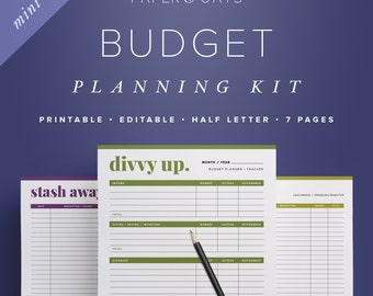 Mini Finance Printables, Monthly Budgeting, Financial Planning Kit, Budget Planner Book, Budget Worksheet, Money Management, Dave Ramsey PDF
