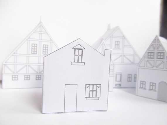 DIY Papier Haus, Bereit Entwurfsvorlage Zu Drucken, Niedliche  Weihnachtsdekoration!, Erstellen Sie Ihr Eigenes Dorf
