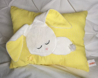 Sleepy Bunny Pillow (Yellow)