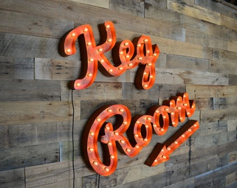Retro, Marquee Lighted Letter SET, Business Sign, by FosterWeld - Price includes shipping