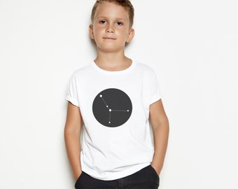 Personalised Kid's T-Shirt - Constellation Print Tshirt / Zodiac / Children's Star Sign Gift / Star Sign Shirt / Modern / Custom Kid's Gift