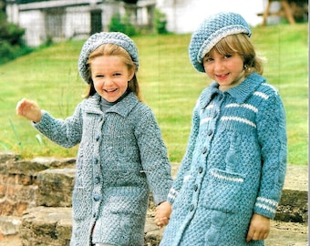 SIRDAR 4333 Children's Vintage Knitting Pattern Instant Download