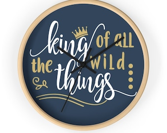 Where The Wild Things Are Wall Clock, King Of All The Wild Things, Nursery Gift, Baby Room, Christmas Present, Nursery Clock, Max Wild Thing