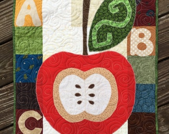 Apple for the Teacher Quilted Wall Hanging