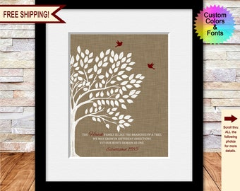 50th Anniversary Gifts for Grandparents, Like Branches On a Tree, Mothers Day Gift for Grandma, Mothers Day Gift Ideas, Personalized