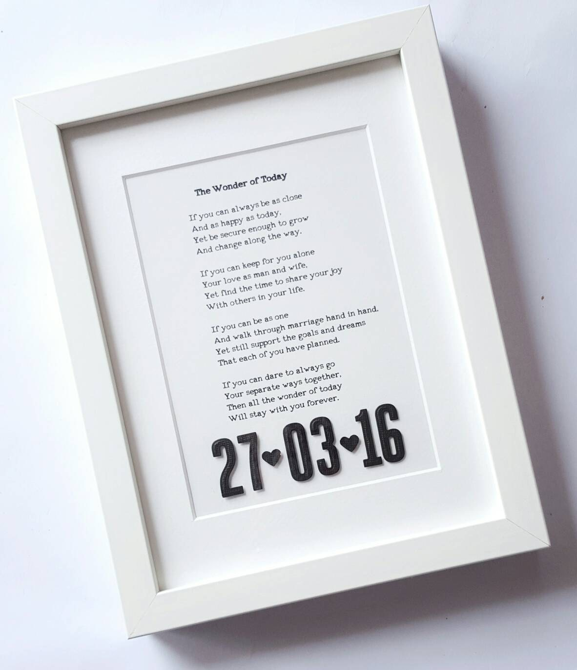 Song Lyrics Art 3d date framed song lrics wedding vows