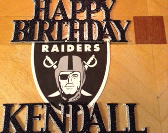 Raiders Personalized Cake Topper