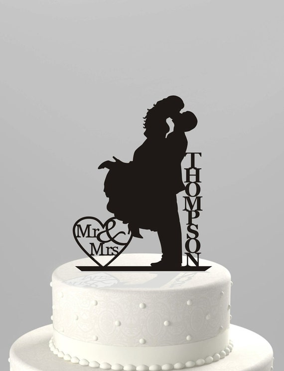 etsy wedding cakes wedding cake topper silhouette mr amp mrs personalized 14048