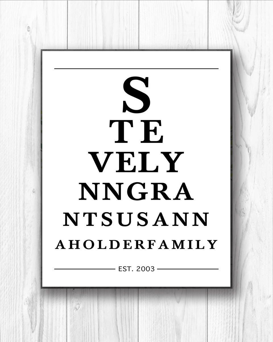 Valentines day gift for him personalized eye chart zoom geenschuldenfo Image collections