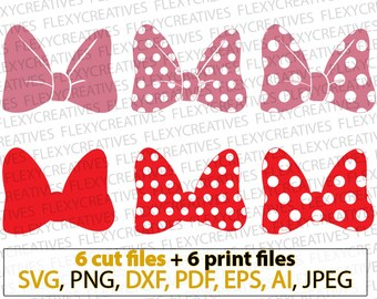 Minnie bow svg, Polka dot bow svg, Minnie mouse bow svg, Bow SVG, Vector, Clipart, Cut File, Cricut, png, DXF, pdf, EPS #vc-104