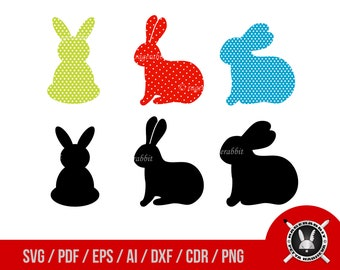 Easter Rabbits SVG, Vector Illustrations,Bunny svg,Easter Bunnies Svg,Easter Svg,Easter Clipart,Baby Bunny Svg,Bunny Clipart,Bunny Cricut