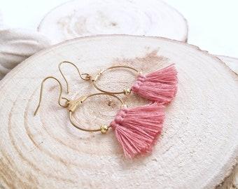Tassels earrings, tassels, boho earrings, hoop earrings, gifts, etsy gifts, boho, dangle earrings