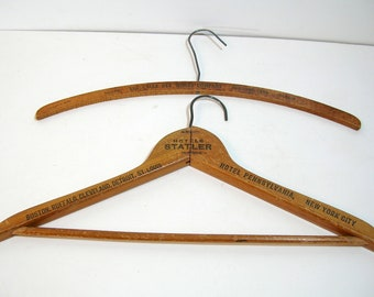 Collectible Vintage Wooden Clothing Hanger, Vintage Advertising