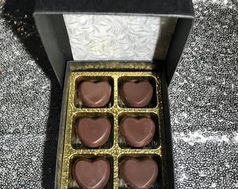 Dark Chocolate Peppermint Heart