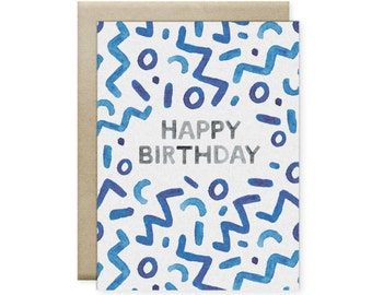 Happy Squiggles Greeting Card