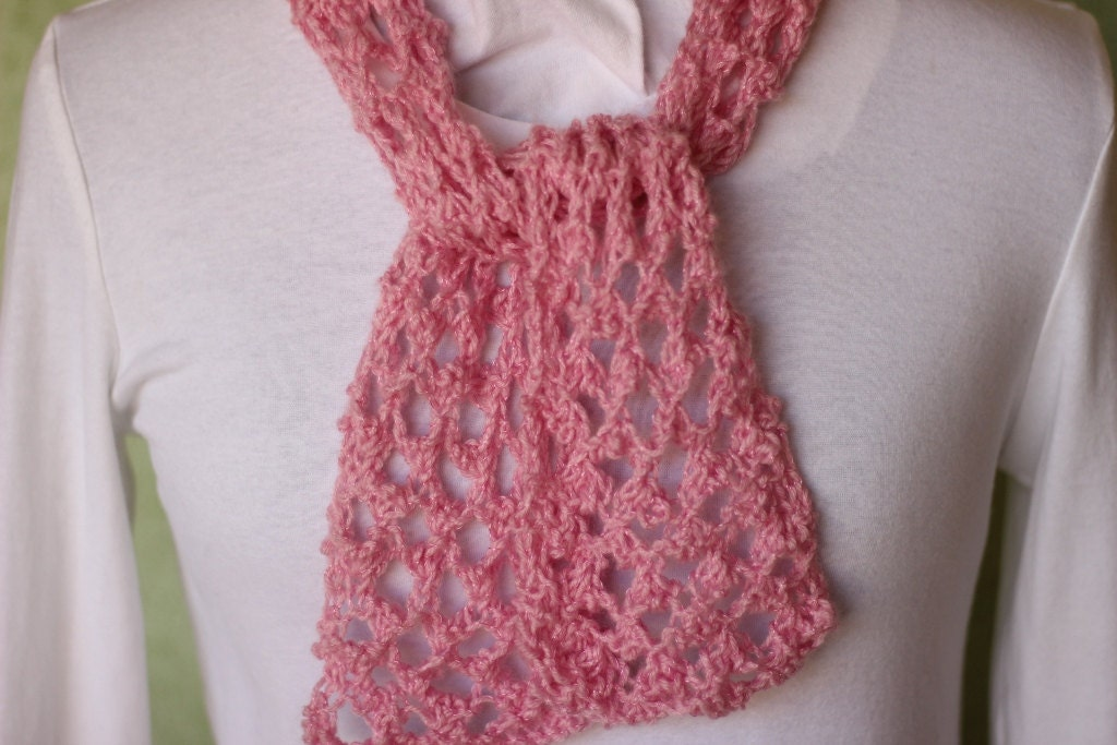 Knit Scarf Pattern, Knitting Pattern for Lace Scarf, Reversible ...