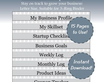 Business plan etsy small business planner etsy business home business business plan template business log business binder instant download printable friedricerecipe Images