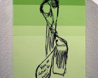 "Green Painting ""Communion"""