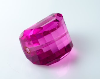 Faceted Hot Pink Quartz Nugget