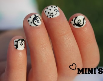 Penguin Mini Nail Wraps