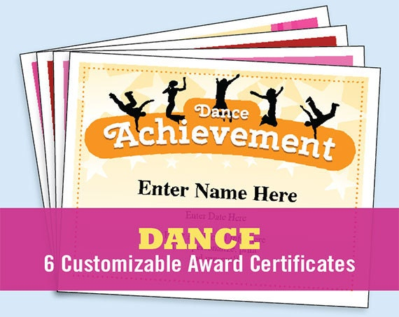 Dance certificate pack dancing awards dance team printables dance certificate pack dancing awards dance team printables child certificates dance templates dancing certificates best seller yadclub Choice Image