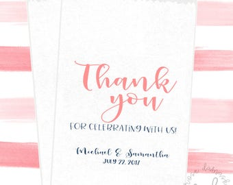 Thank You Wedding Candy Bags, Favor Bags, Popcorn Bags, Candy Buffet, Candy Bags, Buffet Bags, Cookie Bags, Wedding Favors, RD03