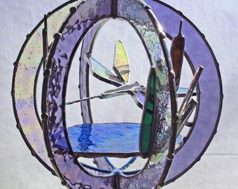 Art Glass Dragonfly Sculpture