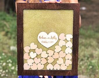 Wedding Guest Book, Alternative Wedding Guest Book, Wedding GuestBook, Drop Box, Guest book hearts, Wedding Guest Book Alternative, Wedding