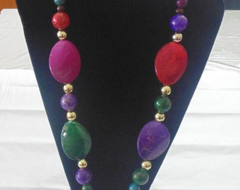 Colourful Chunky Beaded Necklace