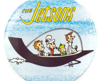 Vintage 80s The Jetsons Hannah-Barbera Classic TV Cartoon Show Pinback Button Badge Pin