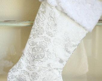 Silver Ornament Stocking
