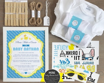 Rubber Ducky Mini Decorating Kit/ Personalized Sign/ Baby Shower/ Onesie  Decorating/ Onesie