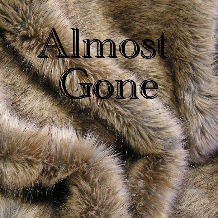 FUR SAMPLE: RABBIT Fur Almost GoneTaupe/Gray/Brown Luxury
