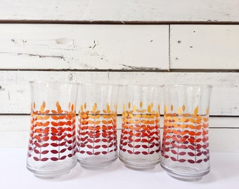 Set of 4 vintage 70's drinking glasses