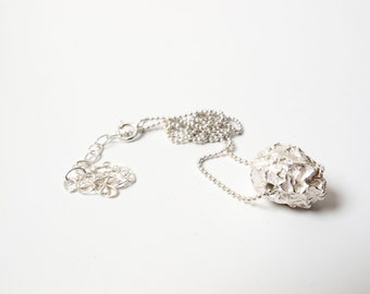silver sinlge Seed necklace