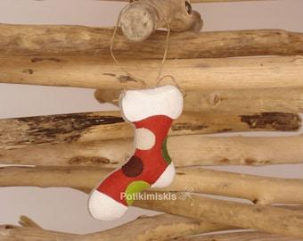 Christmas felt ornament, boot, Christmas, handicraft, felt decoration, Christmas ornament