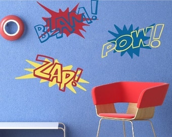 Super Hero Sound FX Vinyl Decal Set