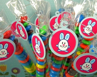 Easter Bunny Favors - Candy Treat Bags, Set of 12 Bunnies