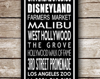 Made to Order- Custom California Destination Poster in Printable File