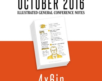 4x6in General Conference Illustrated Notes - October 2016