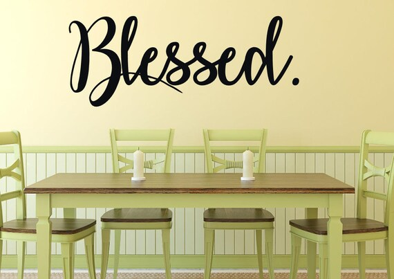 Blessed wall decal Blessed wall art Grateful wall decal