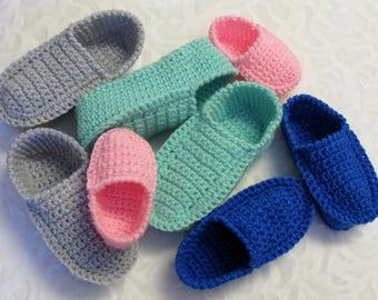 PATRON #27 Pantoufles de style loafers pour enfants 2-10 ans / crochet / Chaussons / français / 3petitesmailles