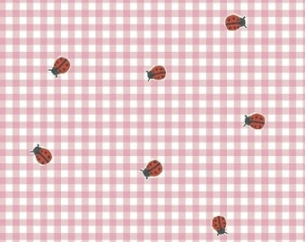 Ladybug Picnic in Pink by Carolyn Gavin from the BFFs collection for Windham #50485-1 by 1/2 yard