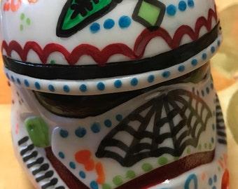 Hand-painted Sugar Skull Storm Trooper
