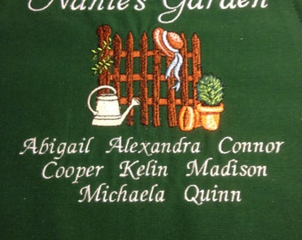 Personalized Embroidered Grandmother Apron or Sweatshirt