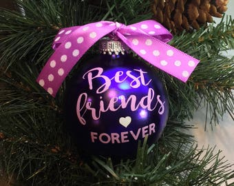 """Personalized """"Best Friends Forever"""" Ornament"""