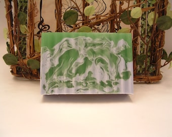 Rosemary & Peppermint Essential Oil Glycerin Goats milk soap
