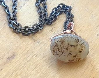 Dendritic Agate Necklace Picture Agate Floral agate