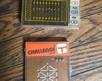 Vintage 1970's Crestline Travel Games Challenge Playoff Football